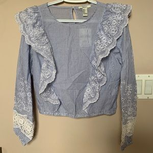 NWT Forever 21 Peasant Top